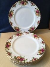 Royal Albert Old Country Roses 1962 Set Of Six Dinner Plates 26.5cm