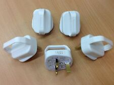 5 x 13Amp Easy Pull Plug Top White Fused Easy Removal