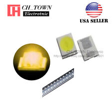 100PCS 2835 Yellow Light SMD SMT LED Diodes Emitting 0.8 Thick Ultra Bright USA
