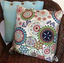 Cushion Cover Wildflower Blue Set of 2 Linen Cotton Sofa Decor Throw Covers Case
