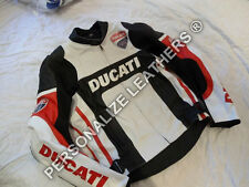 MOTORBIKE LEATHER JACKET/DUCATI LEATHER JACKET/MOTOGP JACKET ALL SIZES AVAILABLE