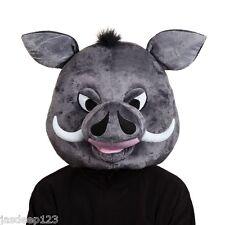 Warthog Head Mask Animal Funny Fancy Dress Pumba Lion King Gordon Pig Boar Adult