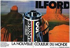 Publicité Advertising 1985 (2 pages) Les Pellicules photo Ilford Ilfocolor