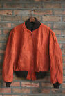 VTG 60s AMERICAN BROWN SUEDE LEATHER CAR JACKET COAT TALON ZIP USA SPORT 42