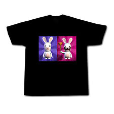 RAYMAN RAVING RABBIDS MENS BLACK TSHIRT!