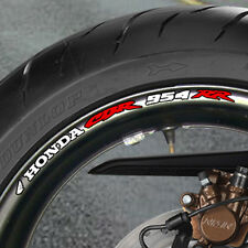 8 x CBR 954RR Fireblade Wheel Rim Stickers Decals cbr954rr 954 rr B