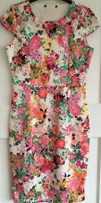 Brand New Ladies Flower Multi-Colour Dress A Line Size 12 Party Day Evening Wear