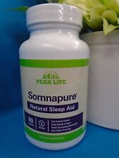 Peak Life SOMNAPURE 60 Tablets Natural Sleep Aid Non-Habit-forming Exp 2018