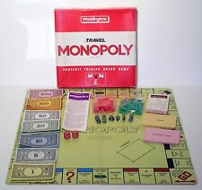 Vintage 1984 Travel Monopoly - Property Trading Board Game - Waddingtons