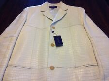 NWT $27,500 RALPH LAUREN PURPLE LABEL FULL CROCODILE THREE BUTTON JACKET