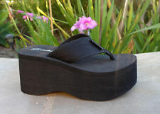 NEW Womens Platform T-Strap Sandals High Wedge Thick Flip Flops Casual- *1088