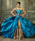 Ladies MAXI Bridesmaid Dress Wedding One Shoulder Chiffon Prom Ball Gown UK 6-18