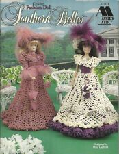 """Southern Belles Crochet Pattern Fashion Doll Gowns 11 1/2"""" Mary Layfield  NEW"""