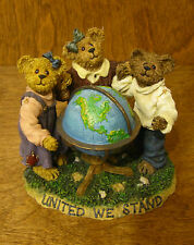 Boyds Bearstone #228401SM Jean, Chris & Mike...United We Stand, Americana 2nd Ed