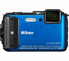 nikon coolpix aw130 underwater digital camera  (blue)