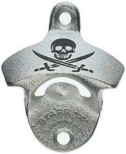 STARR X Wall Mount SKULL BONES & CROSS SWORDS BOTTLE OPENER Bar Popper Beer Soda