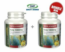 SimplySupplements Kelp 1000mg 120+120 Capsules | Bundle Deal (E639639)