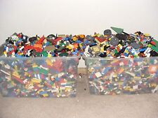 10 Pound Lot LEGO Bricks MIXED Parts & Pieces Bulk lb + 10 minifigures