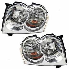 2005 2006 2007 JEEP GRAND CHEROKEE HEAD LAMP LIGHT PAIR LEFT & RIGHT SET