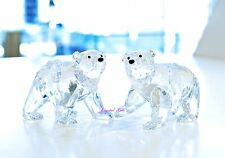 Swarovski 2011 SCS Polar Bear Cubs Crystal Moonlight Signed Brand New In Box