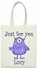 Personalised Child's Birthday Party Canvas Tote / Sweet Bag - Fill it with Gifts