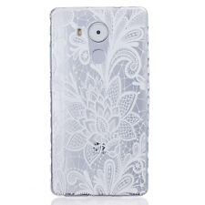 Rubber Patterned  Clear Soft TPU Back Cover Case For Huawei Nokia Iphone 7 Plus