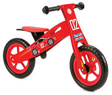 Nicko NIC852 Racing Car Children's Kid's Wooden Balance Bike Cars 2 - 5 Years