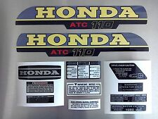 ATC 110 Honda Stickers Set Warning Advice Vintage Trike 1980 Sticker/Decals