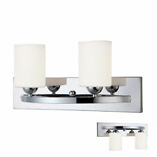 Chrome 2 Globe Vanity Bath Light Bar Interior Lighting Fixture