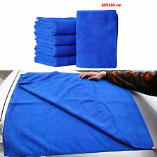 63''x23'' Car Waxing Towel Blue Soft Microfiber Absorbent Wipe Dry Cleaner Cloth