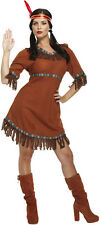 Señoras para mujer Indio Rojo Adulto Fancy Dress Costume Pocahontas Native American