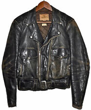 Vintage 1950s 50s APPALACHIAN Horsehide Leather Motorcycle Jacket sz 36 RARE!