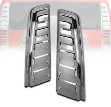 2003-2009 HUMMER H2 SUV CHROME REAR TAIL LIGHT LAMP UPPER VENT COVERS BEZEL PAIR