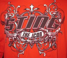TNA Wrestling The Icon Sting Scorpion Graphic Men's Red Shirt 3XL WWE WCW HOF