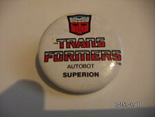 TRANSFORMERS AUTOBOT SUPERION PICTURE BADGE