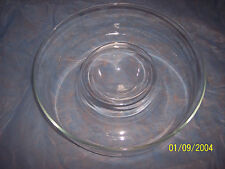 Princess House Large Crystal Contemporary Elegance Chip & Dip bowl MADE IN USA