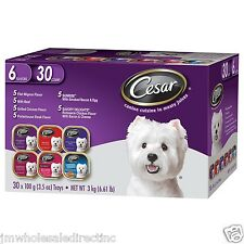2 X30PK  CESAR CANINE CUISINE VARIETY DOG FOOD 3.5 OZ FORMULATED FOR SMALL DOG
