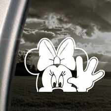 Minnie mouse wave funny bumper, car, window, ipad or laptop sticker