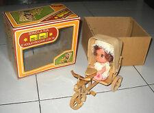BIBI Voglio giocare con te con bici e carretto Risciò UGI Il giocattolo Anni 70