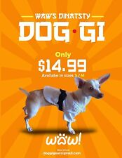 Karate dog outfit: martial arts coat for your dog. Great for gifts, small/medium