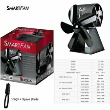 SmartFan Heat Powered Stove Fan - Brand New 2016 Model - Energy Efficient