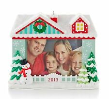 2013 Hallmark SEASON'S GREETINGS Photo Holder Our Family Ornament RECORDABLE