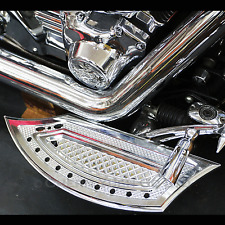 CNC Silver Chrome Driver Floorboards for Harley FL Softail Fat Boy Tour Glide