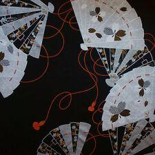 """118cm """"Maki-e"""" Furoshiki aus JAPAN Verpackungs Tuch Fächer Schwarz - Silber"""