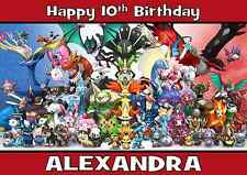 pokemon personalised A5 birthday card son brother grandson nephew name age