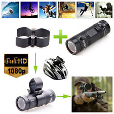 HD 1080P Video DV Gun Clip Mount Bike Helmet Sports Action Camera For Hunting