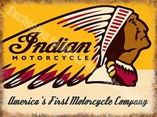 Indian Motorcycles 190 American Vintage Chopper Bike Garage Large Metal/Tin Sign