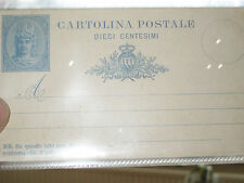 Italian printed stamp, punch holes Postcard