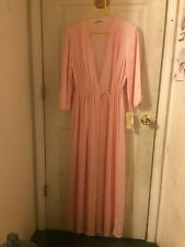 Vintage JC Penney Collectibles Robe Peignoir Size Small Pink - MADE IN USA - NOS
