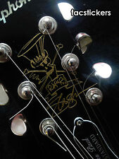 Set Stickers Slash Cartoon For LP Guitar Headstock Vinyl Gold Color